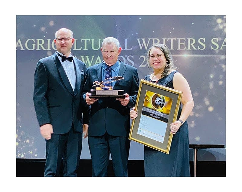 2019 winners of Agricultural Writers SA's Farmer, Agriculturist and New Entrant to Commercial Agriculture awards.